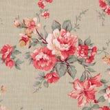 O estilo do vintage da tapeçaria floresce o fundo do teste padrão da tela Foto de Stock Royalty Free