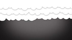 O estilo dos desenhos animados nubla-se a cortina que abre e que revela algo vídeos de arquivo