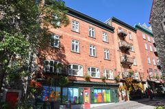 Casa francesa do estilo em Cidade de Quebec velha Fotografia de Stock