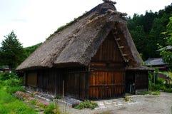 O estilo home japonês tradicional na vila histórica Shirakawa-vai, prefeitura de Gifu foto de stock