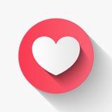 O estilo liso do papel do coração, par do dia de são valentim do amor convida, vect Imagens de Stock Royalty Free