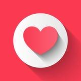 O estilo liso do papel do coração, par do dia de são valentim do amor convida, vect Fotos de Stock