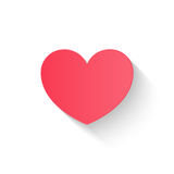 O estilo liso do papel do coração, par do dia de são valentim do amor convida, vect Foto de Stock