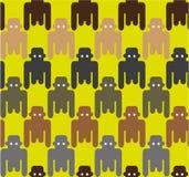 O estilo liso monkeys o teste padrão sem emenda Fotos de Stock