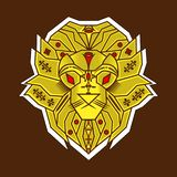 O estilo simples do leão amarelo ilustração do vetor