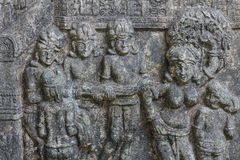 O estilo tailandês do cimento do baixo relevo handcraft Imagem de Stock