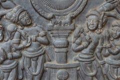 O estilo tailandês do cimento do baixo relevo handcraft Foto de Stock Royalty Free