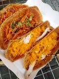 O estilo tailandês nativo da sobremesa friável dos crepes Fotografia de Stock Royalty Free