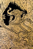 O estilo tailandês real, pintura craftman de imagina Imagem de Stock