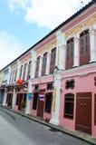 O estilo velho do português de tipo de tela de algodão de Phuket da cidade Imagem de Stock Royalty Free