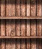 O estoque vazio de madeira arquiva o fundo Imagem de Stock Royalty Free