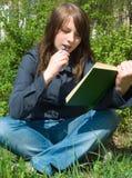 O estudante antes da examinação Foto de Stock Royalty Free