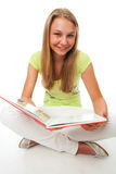 O estudante bonito novo com o livro Foto de Stock Royalty Free