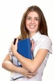 O estudante com livros Fotografia de Stock