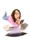 O estudante não quer fazer seus trabalhos de casa Imagem de Stock Royalty Free