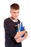 O estudante novo com o livro fotos de stock