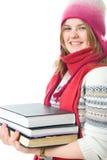O estudante novo com os livros Imagem de Stock