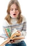 O estudante novo com os livros Fotografia de Stock