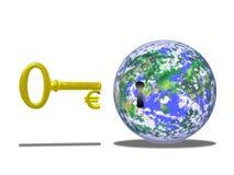 O euro é chave Fotografia de Stock