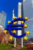 O Euro assina dentro Francoforte - am - cano principal, Alemanha Fotografia de Stock
