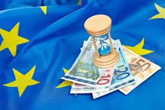 O euro expirou foto de stock royalty free