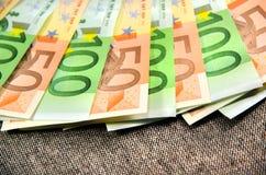 O Euro fatura o close-up Foto de Stock Royalty Free