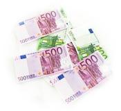 O Euro fatura o euro- dinheiro das cédulas Moeda da União Europeia Fotografia de Stock