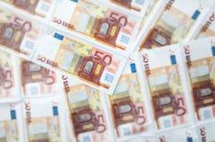 O euro fatura o fundo Imagem de Stock Royalty Free