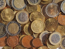 O euro inventa o fundo Fotografia de Stock Royalty Free