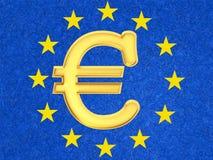 O euro- sinal Foto de Stock