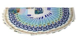 O euro- teste padrão do dinheiro Fotos de Stock