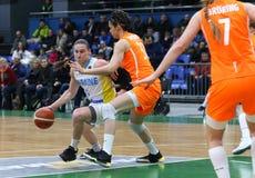 O EuroBasket 2019 das mulheres de FIBA: Ucrânia v Países Baixos Fotos de Stock