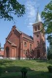 O Evangelical - igreja de Augsburg dos apóstolos Peter e Paul em Pyskowice Imagem de Stock Royalty Free