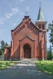 O Evangelical - igreja de Augsburg dos apóstolos Peter e Paul em Pyskowice Foto de Stock Royalty Free