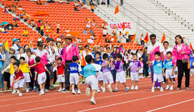 O evento do dia do esporte das crianças Foto de Stock Royalty Free