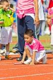 O evento do dia do esporte dos miúdos fotografia de stock