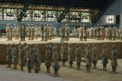 O exército do Terracotta Fotos de Stock Royalty Free