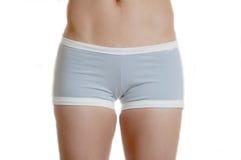 O exercício cinzento shorts a parte inferior Foto de Stock Royalty Free