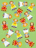 O exercício do Natal para as crianças - brilhantes e a página do divertimento Imagem de Stock Royalty Free