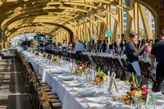 4o exploração agrícola anual a bifurcar-se jantar 4 da ponte da torre Imagens de Stock Royalty Free