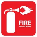 O extintor de incêndio ajustou 1 ilustração do vetor