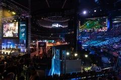 O extremo de Intel domina 2014, Katowice, Polônia imagens de stock