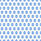 O fã floresce a textura sem emenda azul Imagem de Stock Royalty Free