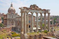 O fórum romano em Roma Fotos de Stock Royalty Free