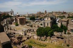 O fórum romano - Roma Fotografia de Stock