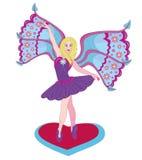 O fairy bonito a bailarina. ilustração do vetor