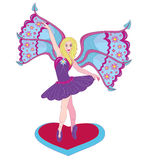 O fairy bonito a bailarina. Foto de Stock