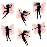 O Fairy voa silhuetas das mulheres Imagens de Stock