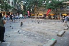 O Falles na cidade de Valência fotografia de stock