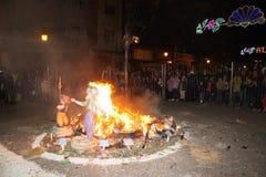 O Falles na cidade de Valência foto de stock